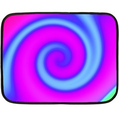 Swirl Pink Turquoise Abstract Fleece Blanket (mini) by BrightVibesDesign