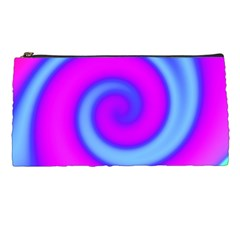 Swirl Pink Turquoise Abstract Pencil Cases by BrightVibesDesign