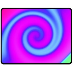 Swirl Pink Turquoise Abstract Fleece Blanket (medium)  by BrightVibesDesign