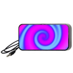 Swirl Pink Turquoise Abstract Portable Speaker by BrightVibesDesign