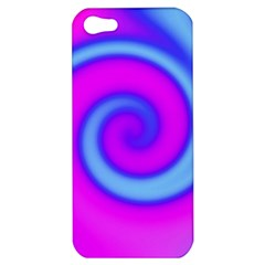 Swirl Pink Turquoise Abstract Apple Iphone 5 Hardshell Case by BrightVibesDesign