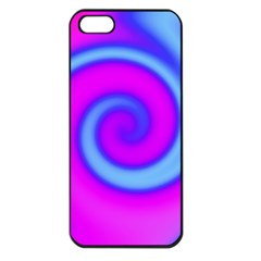 Swirl Pink Turquoise Abstract Apple Iphone 5 Seamless Case (black) by BrightVibesDesign