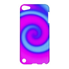 Swirl Pink Turquoise Abstract Apple Ipod Touch 5 Hardshell Case by BrightVibesDesign