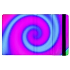 Swirl Pink Turquoise Abstract Apple Ipad 2 Flip Case by BrightVibesDesign