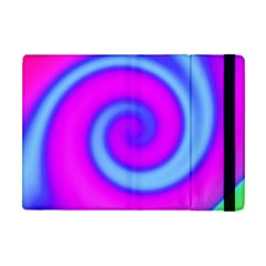 Swirl Pink Turquoise Abstract Apple Ipad Mini Flip Case by BrightVibesDesign