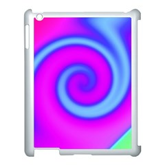 Swirl Pink Turquoise Abstract Apple Ipad 3/4 Case (white) by BrightVibesDesign