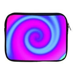 Swirl Pink Turquoise Abstract Apple Ipad 2/3/4 Zipper Cases by BrightVibesDesign