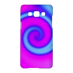 Swirl Pink Turquoise Abstract Samsung Galaxy A5 Hardshell Case  by BrightVibesDesign