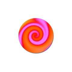 Swirl Orange Pink Abstract Golf Ball Marker by BrightVibesDesign