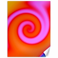 Swirl Orange Pink Abstract Canvas 18  X 24   by BrightVibesDesign
