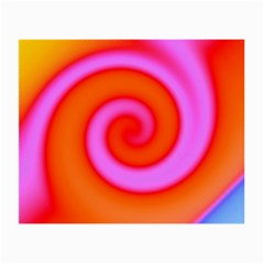 Swirl Orange Pink Abstract Small Glasses Cloth (2 Side) by BrightVibesDesign