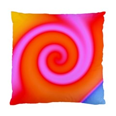 Swirl Orange Pink Abstract Standard Cushion Case (two Sides) by BrightVibesDesign