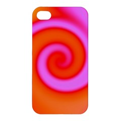 Swirl Orange Pink Abstract Apple Iphone 4/4s Hardshell Case by BrightVibesDesign