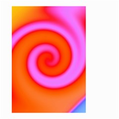 Swirl Orange Pink Abstract Small Garden Flag (two Sides) by BrightVibesDesign