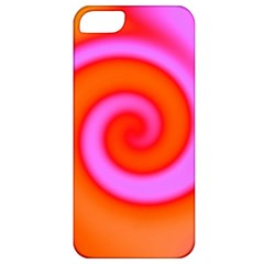 Swirl Orange Pink Abstract Apple Iphone 5 Classic Hardshell Case by BrightVibesDesign