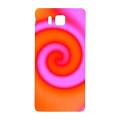 Swirl Orange Pink Abstract Samsung Galaxy Alpha Hardshell Back Case by BrightVibesDesign