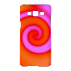 Swirl Orange Pink Abstract Samsung Galaxy A5 Hardshell Case  by BrightVibesDesign