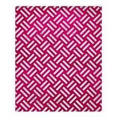 Woven2 White Marble & Pink Leather Shower Curtain 60  X 72  (medium)  by trendistuff