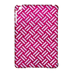 Woven2 White Marble & Pink Leather Apple Ipad Mini Hardshell Case (compatible With Smart Cover) by trendistuff