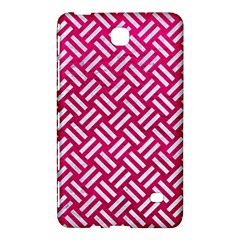 Woven2 White Marble & Pink Leather Samsung Galaxy Tab 4 (8 ) Hardshell Case  by trendistuff