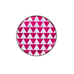 Triangle2 White Marble & Pink Leather Hat Clip Ball Marker (10 Pack) by trendistuff