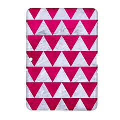Triangle2 White Marble & Pink Leather Samsung Galaxy Tab 2 (10 1 ) P5100 Hardshell Case