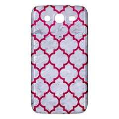 Tile1 White Marble & Pink Leather (r) Samsung Galaxy Mega 5 8 I9152 Hardshell Case  by trendistuff