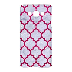 Tile1 White Marble & Pink Leather (r) Samsung Galaxy A5 Hardshell Case  by trendistuff