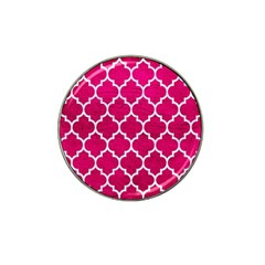 Tile1 White Marble & Pink Leather Hat Clip Ball Marker (4 Pack) by trendistuff