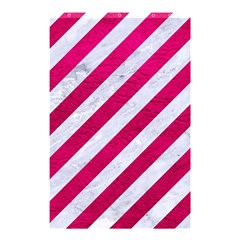 Stripes3 White Marble & Pink Leather (r) Shower Curtain 48  X 72  (small)  by trendistuff