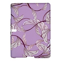 Floral Retro Pattern Blue Samsung Galaxy Tab S (10 5 ) Hardshell Case  by goodart