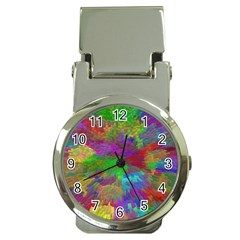 Colorful Patern Art Rainbow Money Clip Watches