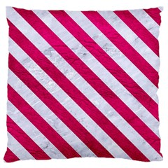 Stripes3 White Marble & Pink Leather Standard Flano Cushion Case (one Side) by trendistuff