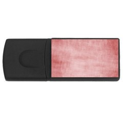 Red Color Patern Art Rectangular Usb Flash Drive by goodart