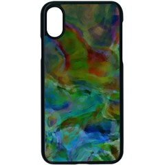 Rainbow Patern Color Apple Iphone X Seamless Case (black)