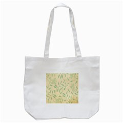 Leaves Vintage Pattern Tote Bag (white)