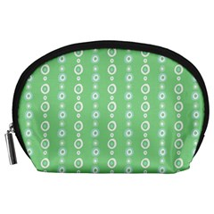 Retro Green Pattern Accessory Pouches (large)  by goodart
