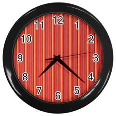 Retro Pattern Texture Fabric Art Material Graphic Textile Wall Clocks (black)
