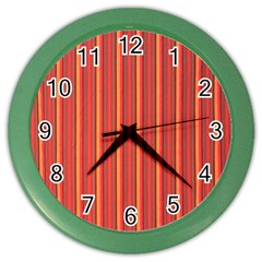 Retro Pattern Texture Fabric Art Material Graphic Textile Color Wall Clocks by goodart