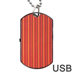 Retro Pattern Texture Fabric Art Material Graphic Textile Dog Tag Usb Flash (two Sides) by goodart