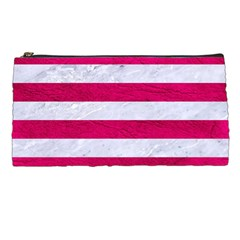 Stripes2white Marble & Pink Leather Pencil Cases by trendistuff