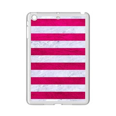 Stripes2white Marble & Pink Leather Ipad Mini 2 Enamel Coated Cases by trendistuff