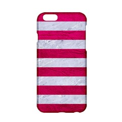 Stripes2white Marble & Pink Leather Apple Iphone 6/6s Hardshell Case by trendistuff