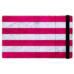 Stripes2white Marble & Pink Leather Apple Ipad Pro 9 7   Flip Case by trendistuff