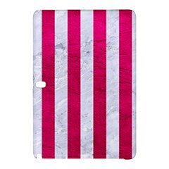 Stripes1 White Marble & Pink Leather Samsung Galaxy Tab Pro 12 2 Hardshell Case by trendistuff
