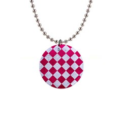Square2 White Marble & Pink Leather Button Necklaces by trendistuff