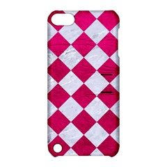 Square2 White Marble & Pink Leather Apple Ipod Touch 5 Hardshell Case With Stand by trendistuff