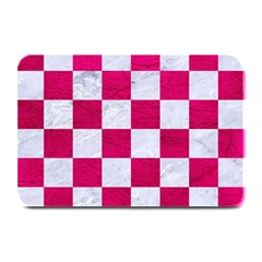 Square1 White Marble & Pink Leather Plate Mats by trendistuff