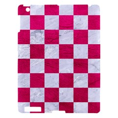 Square1 White Marble & Pink Leather Apple Ipad 3/4 Hardshell Case by trendistuff
