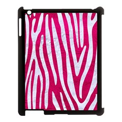 Skin4 White Marble & Pink Leather (r) Apple Ipad 3/4 Case (black) by trendistuff
